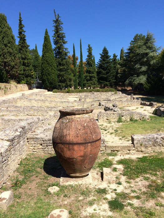 Roman Ruins and Ancient Pot