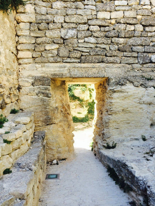 Entrance to Upper Ruins of Marquis de Sade Chateau