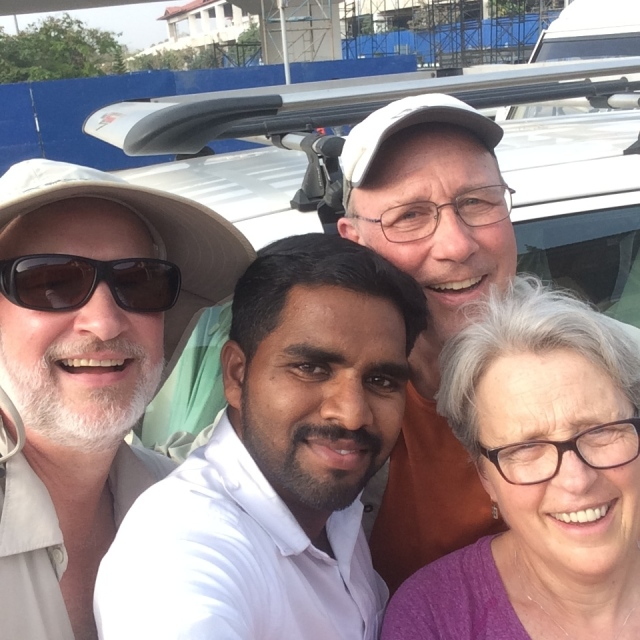 Doug, David and Me with Sai Nudhee, Amazingly Skilled Driver and All Around Terrific Person