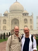 Doug and David at the Taj