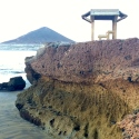 Beachside Volcanic Rock Wall